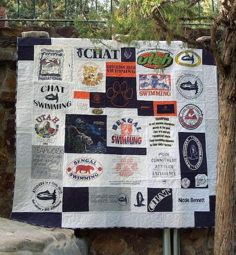 T-shirt Puzzle Quilt Pattern by Nellies Needle Quilts