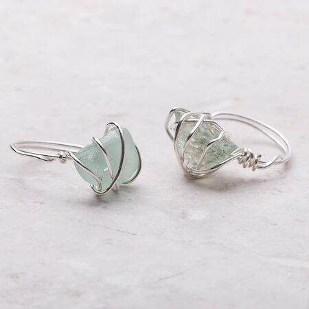 Wire Wrapped Gemstone Ring by Kernowcraft