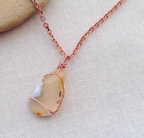 Wire Wrapped Stone Pendant by The Spruce Crafts