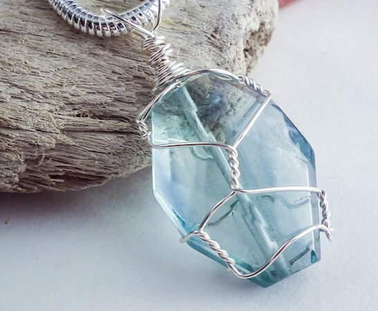 Wire Wrapped Stone Pendant by Craftsy