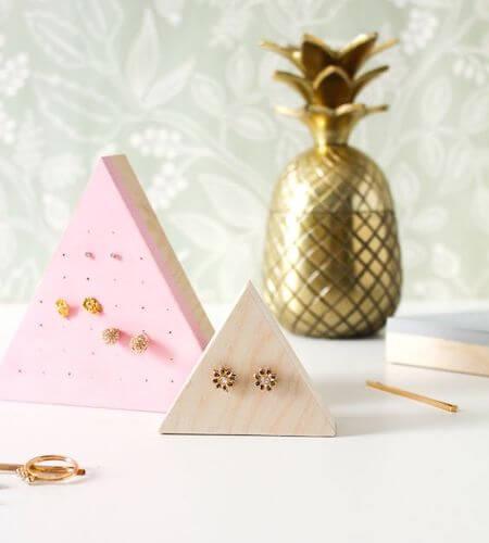 Wooden Stud Earring Holders by Martha Stewart