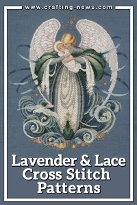 16 LAVENDER AND LACE CROSS STITCH PATTERNS