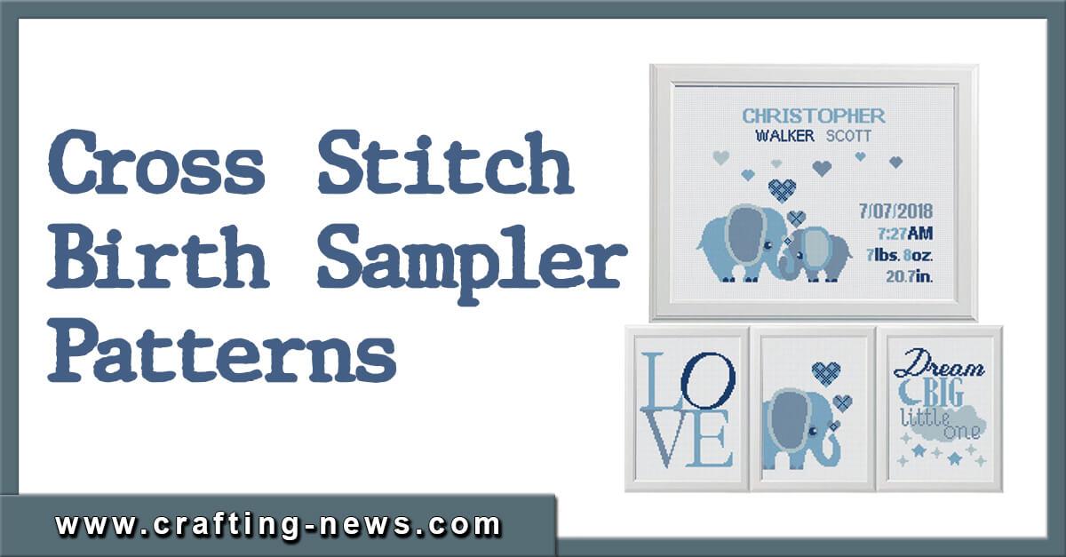 BEST CROSS STITCH BIRTH SAMPLER PATTERNS