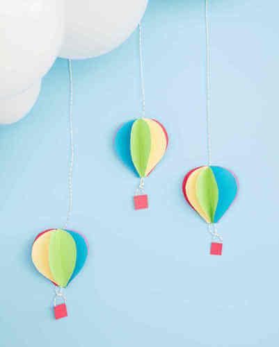 3D Hot Air Balloon Paper Decorations by Martha Stewart