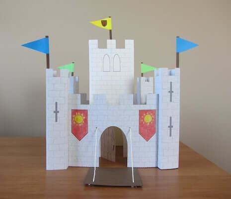 3d paper castle