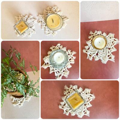 Beginner Macrame Flower Coaster Pattern by KnottingtonsFray