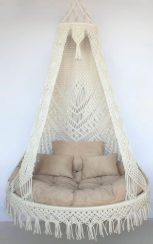 Bohemian Chair Porch Swing by ROPEWOODshop
