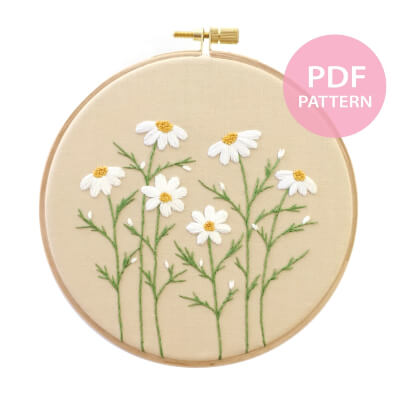 DAISY Hand Embroidery Pattern by EVAatMoon