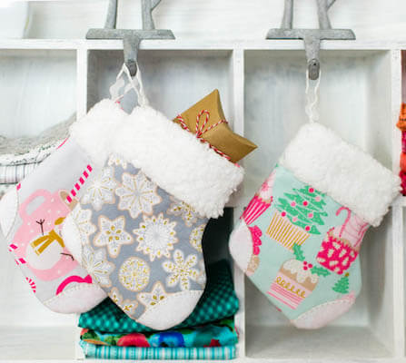 DIY Mini Christmas Stocking by Sew Can She