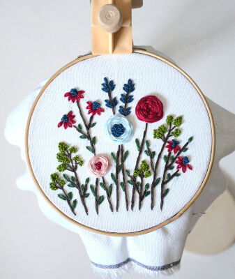 Floral Beginner Embroidery Pattern by KoddiStore