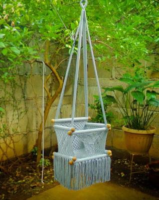 Hammock Macrame Baby Swing Chair from BabyCrocheme
