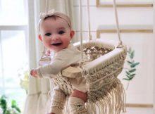 Handmade Macrame Baby Swing