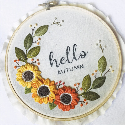 Hello Autumn Hand Embroidery Pattern by SkywardUp