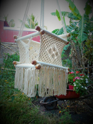Macrame Baby Hammock Chair from NicaSoulHammocks