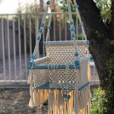 Macrame Baby Swing Chair from MCBohemianDesigns