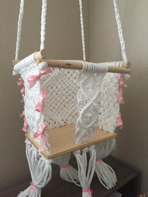 Macrame Baby Swing Pattern by Macrame Patternzfodays