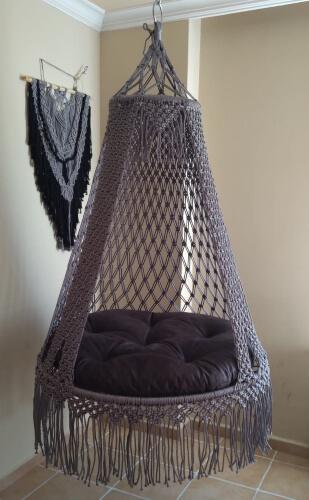 Macrame Hammock Swing Chair by HandmadeTreasureTr