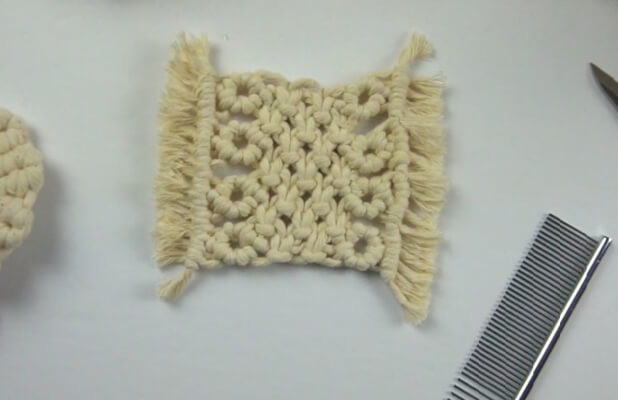 Macrame Square Coaster from Bochiknot