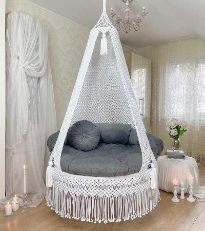 Macrame Swing Chair by Craftymartstore
