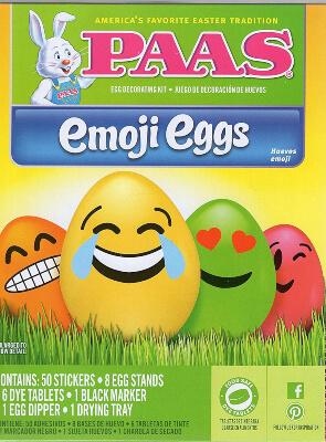 PAAS Emoji Eggs Easter Paint Kit