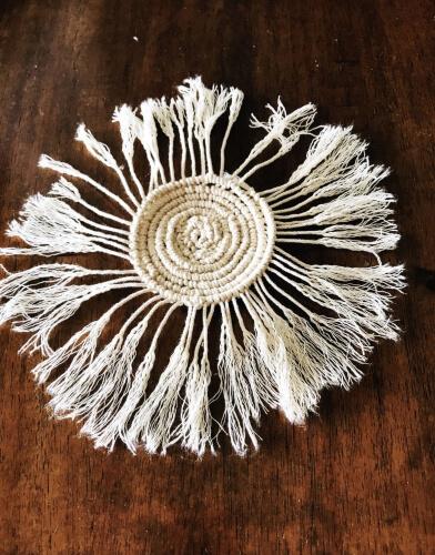 Pretty Round Macrame Coasters by Wildflowers & Wanderlust