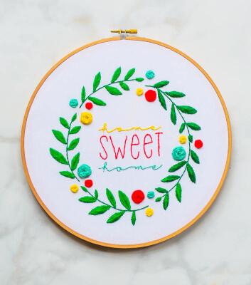 Spring Embroidery Hoop Art by Kristi