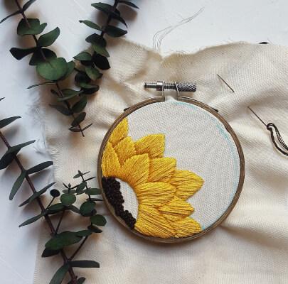 Sunflower Hand Embroidery Pattern by ShopIllumineCreative