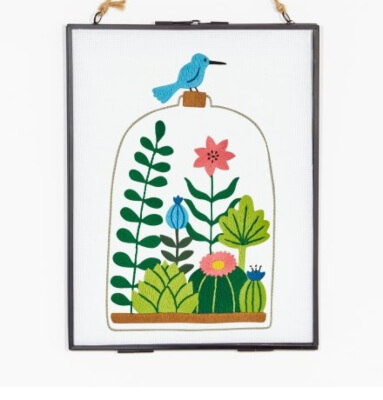 TERRARIUM Floral Embroidery Pattern from DMC