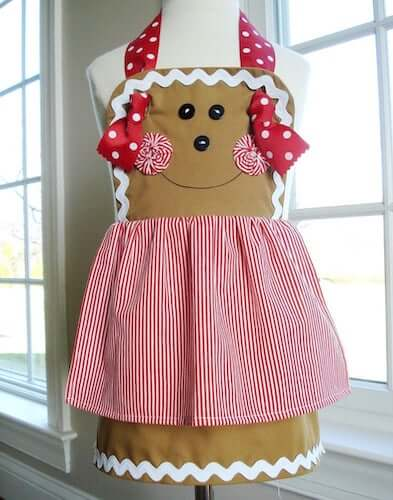Apron Christmas Sewing Pattern by Precious Patterns