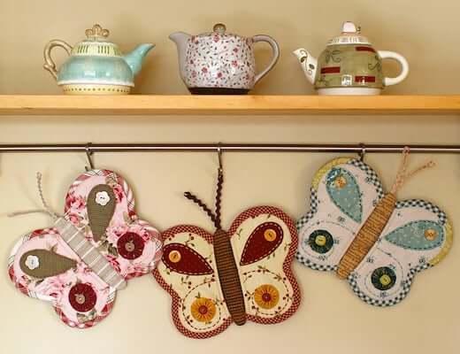 Butterfly Potholder Pattern by Patchwork Pottery