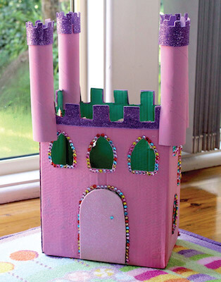 Cardboard Castle Craft For Kids by The Craft Train