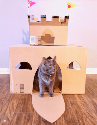 Cardboard Cat Castle by Charleston Crafted