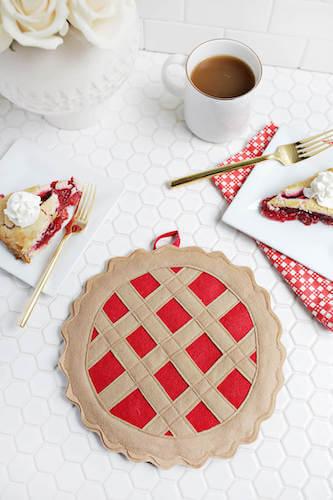 Cherry Pie Potholder Pattern by A Beautiful Mess
