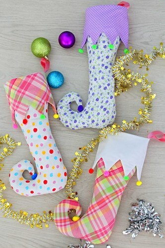 Christmas Elf Stocking Pattern by Easy Peasy Creative