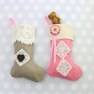 Christmas Stocking Pattern by My Childhood Treasures