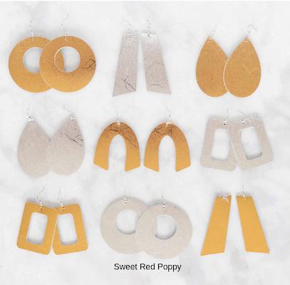 Cricut Leather Earrings by Sweet Red Poppy