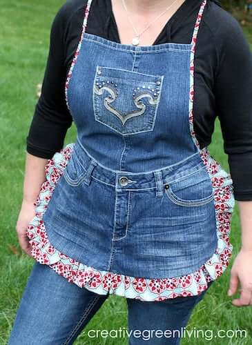 Denim Apron Sewing Pattern by Creative Green Living