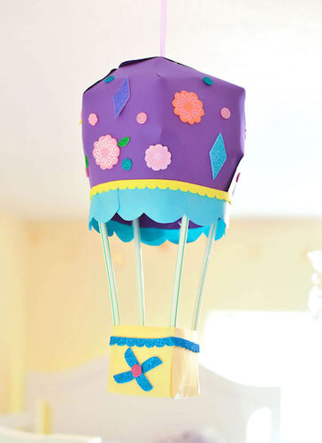 DIY 3D Hot Air Balloon Paper Craft by Create Play Travel