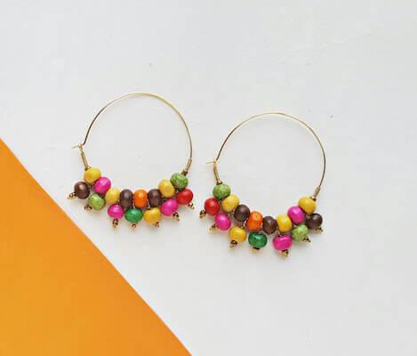 DIY Beaded Hoop Earrings by Real & Quirky