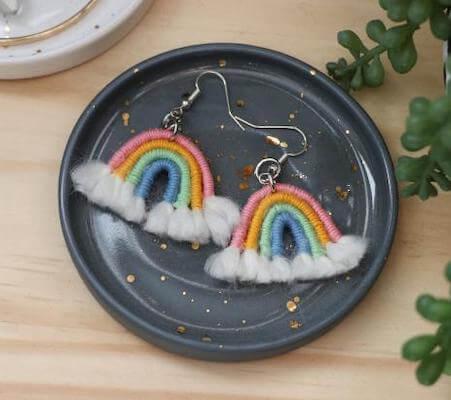 DIY Boho Rainbow Earrings by HGTV