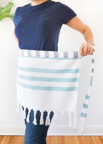 DIY Cabana Stripe Apron by Sugar & Cloth DIY Decor