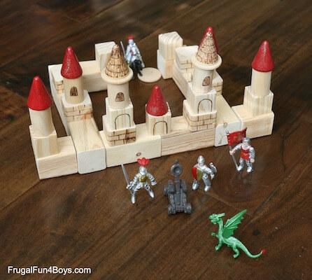 DIY Castle Building Blocks by Frugal 4 Fun Boys