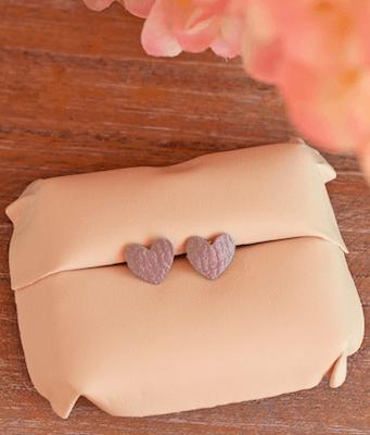 DIY Faux Leather Heart Earrings by It Happens In A Blink
