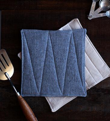 DIY Handmade Linen Potholders by Say Yes