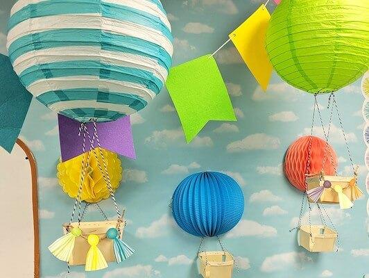 DIY Hot Air Balloon Bulletin Board by Fun 365