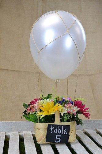 DIY Hot Air Balloon Centerpiece by Love Inc. Mag
