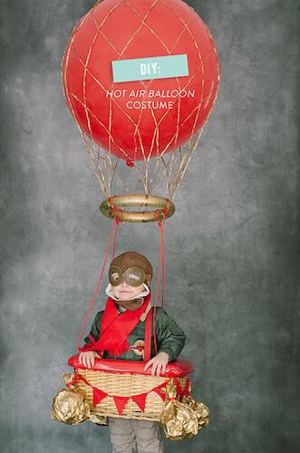 DIY Hot Air Balloon Costume by San Diego Family