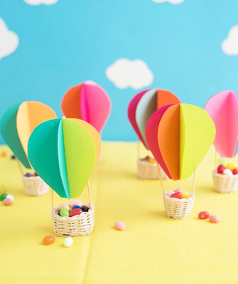 DIY Hot Air Balloon Favors by Oh Happy Day