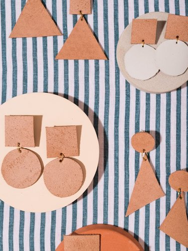 DIY Leather Statement Earrings by Paper & Stitch