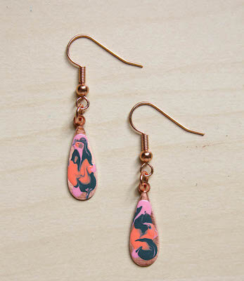 DIY Marbled Earrings by Make & Fable